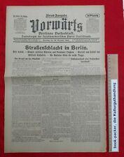"""VORWÄRTS (24. Dezember 1918): Straßenschlacht in Berlin (""""Weihnachtskämpfe"""")"""