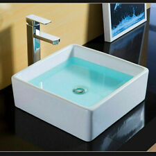 Modern white Square Ceramic Small Cloakroom Bathroom Basin Wall Hung Corner Sink