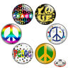 "Peace Sign 1.25"" Pinback Button BADGE SET Novelty Pins 32 mm Gift Flower Power"