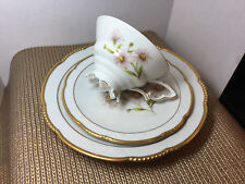 "Vintage Mitterteich Bavaria Germany Daisy Bell Trio Set - Cup,Saucer, 7.5"" Plate"