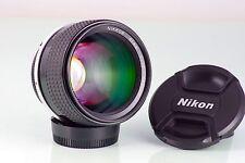 Classic Cult Lens Nikkor Ais 85 85mm F1.4 Bokeh Tele NIKON F F2 F3 F4 near Mint