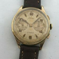 UNVER  MILITARY ARGENTINA AIR FORCE AAF MANUAL WIND CHRONOGRAPH OVERSIZE 38 MM