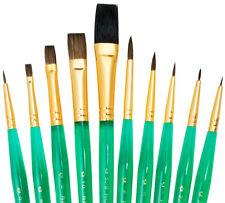 Royal Langnickel Paint Brushes SABLE CAMEL10 Pc Set ULTRA Short Handle SVP4