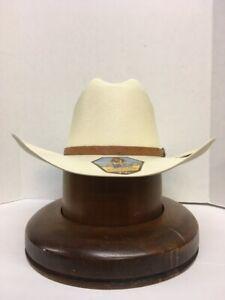 """Stetson 500X El Noble Straw Hat Brim 4"""" Profile 28"""