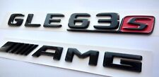 Mercedes GLE63s AMG  schwarz glanzend embleme flache