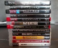 Sony Playstation PS3 Games Bundle Lot—12 Hit Games in Original Cases—Tested!