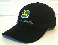 "John Deere All Fabric Black Hat Cap ""Nothing Runs Like a Deere"""