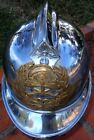 PARAGUAYAN FIREMAN POMPIER CHIEF EARLY 1900 CHROME NICKEL PLATED HELMET RARE !