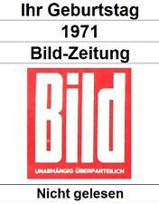 Bild-Zeitung 1971 - Ihre Wahl - Nicht gelesen