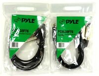 Lot of(2) PYLE PRO PCBL38FT6 12-Gauge 3.5mm Male to Dual XLR Female Cable, 6 ft