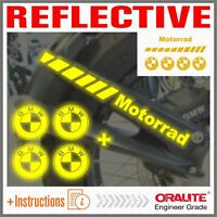 6x BMW R1200GS Adventure 04-12 Reflective Yellow PARAFANGO POSTERIORE STICKERS