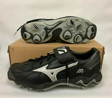 MIZUNO CHIPPER LO CLEATS 11.5 BLACK/SILVER FB-28LBK