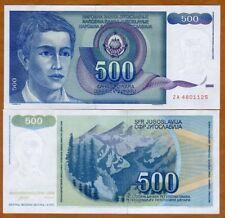 Yugoslavia, 500 Dinara, 1990, P-106r, ZA UNC > Replacement