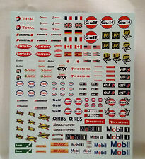 ROYALE Z301 RACING SPONSOR LOGOS 1/32 WATER SLIDE DECAL SHEET 170 PER SHEET