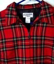 PENDLETON Tartan Plaid Zip-Up Jacket~Red/Black/White/Yellow~Women's 4 Petite