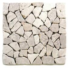 1qm Mosaik Fliese Naturstein Marmor WEISS 1m² 30x30cm