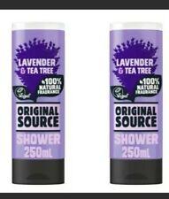 🆕2x ORIGINAL SOURCE lavender & tea tree Shower Gel 250ml 🚿💦