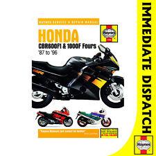 [ 1730 ] Honda Cbr600f1 Cbr1000f Fours 1987-96 Haynes Manual de taller