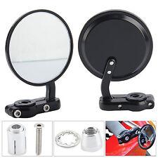2x 7/8'' Universal Redondo Espejo Retrovisor Moto Motocicleta Bar End Mirror