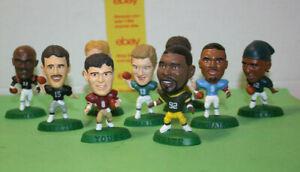 "NFL Headliners Corinthian ""Mini"" Football Super STAR Figures-   Lot of 9"
