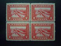 1913 #398 2c Balboa Block of 4 Perf 12 Horz MNH OG VF CV $160.00