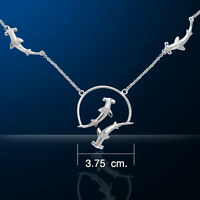 Hammerhead Shark .925 Sterling Silver Necklace by Peter Stone Jewelry