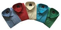 Mens Short Sleeve Big Size Summer Plain Shirts 3XL - 5XL Cotton Blend