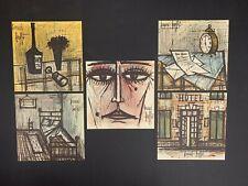 "(5) Rare 1959 Vtg Bernard Buffet Lithographs 12""X12"" original prints Verve Ella"
