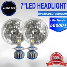 """H4 LED Light Bulbs 6000K White 7"""" Headlight Hi/Lo beam 2pcs For 79 Mazda RX-7"""