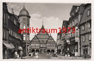 Foto AK Paderborn Marienplatz mit Rathaus um 1935 Nr. 112