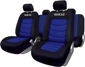 Sparco SPC1019AZ Seat Cover Set, Black/ Blue