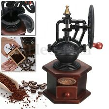 Manual Coffee Grinder Antique Cast Iron Hand Crank Coffee Mill Grinding Tool New