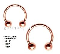 Rose Gold PVD Steel Spike Horseshoe Circular Barbell Earring Septum Labret Jewelry & Watches Fashion Jewelry 1pc