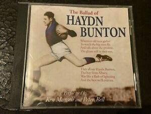 The ballad of Hadyn Bunton CD by Ken Mansell and Peter Bell VFL AFL Fitzroy