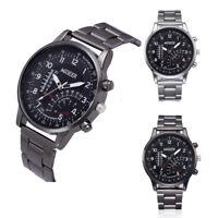Fashion Man Slide rule Design Watch Stainless Steel Analog Alloy Quartz Watch