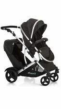 Hauck Duett Black Pushchairs Double Seat Stroller
