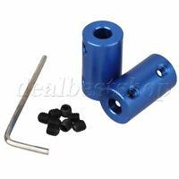 2 x 6mm-6mm Rigid Coupling Blue Aluminum Shaft Coupling Coupler Motor Hardware