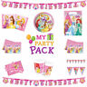 DISNEY PRINCESS PARTY TABLEWARE BIRTHDAY SUPPLIES GIRLS DECORATIONS