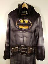Batman Adult One Piece Hooded Pajamas Batman Size Medium