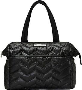 SoHo Baby Diaper Bag Tote, Washington Chevron in Black, 5 Piece Set