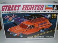 """1/24 MONOGRAM 1960 CHEVROLET PANEL VAN """"STREET FIGHTER"""" TOM DANIEL, PLASTIC KIT"""