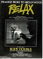 """RELAX"" SHEET MUSIC-FRANKIE GOES TO HOLLYWOOD-BODY DOUBLE-PIANO/VOCAL/GUITAR-NEW"