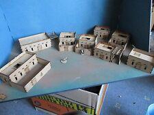 20mm Set D Adobe Village 7 casas & compuesto desierto de África paisaje edificios