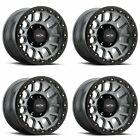 Set 4 18 Vision 111 Nemesis Gunmetal Wheels 18x9 6x5.5 0mm Chevy Gmc 6 Lug Rims