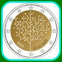 2020 Estland ESTONIA 2 Euro 100 Jahre Friedensvertrag von Tartu Münze unc / unz