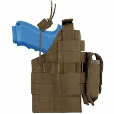 Condor Coyote Brown MOLLE Ambidextrous Holster Pistol Magazine Pouch fits Glock