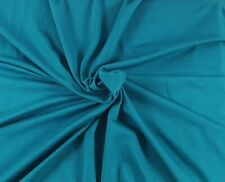 Teal  Organic Cotton Spandex Fabric Eco Friendly Jersey Knit By the Yard 210 GSM