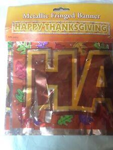 Happy Thanksgiving Banner 5 Ft