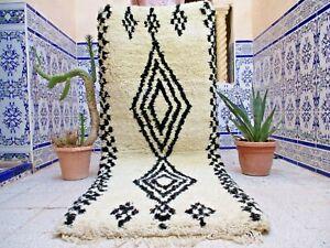 Moroccan Rug Vintage Azilal Rug Handmade Tribal Carpet Wool Old kilim Berber