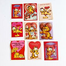 VINTAGE GARFIELD THE CAT VALENTINE'S DAY Cards Classroom LOT OF 9 - NO ENVELOPES